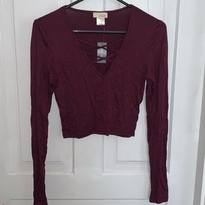 Small Long Sleeve Crop Top